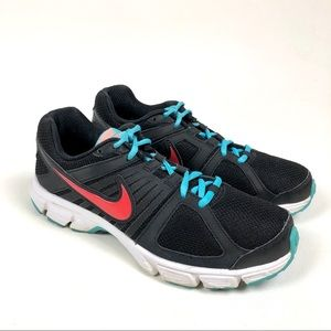 Nike Air Downshifter Black Turquoise Running Shoes